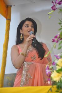 Aishya Rai Bachchan looks Stunning Cute and Beautiful in Peach Saree at Kalyan Jewellery Launch Event